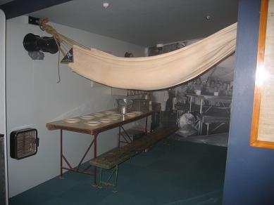 Torpedo Bay Navy Museum - Mess Deck