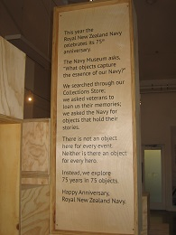 Torpedo Bay Navy Museum - 75 years 75 objects